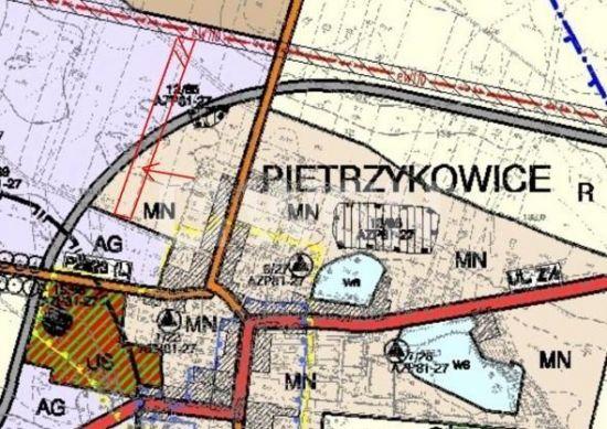 Na sprzedaż grunt inwestycyjny Pietrzykowice